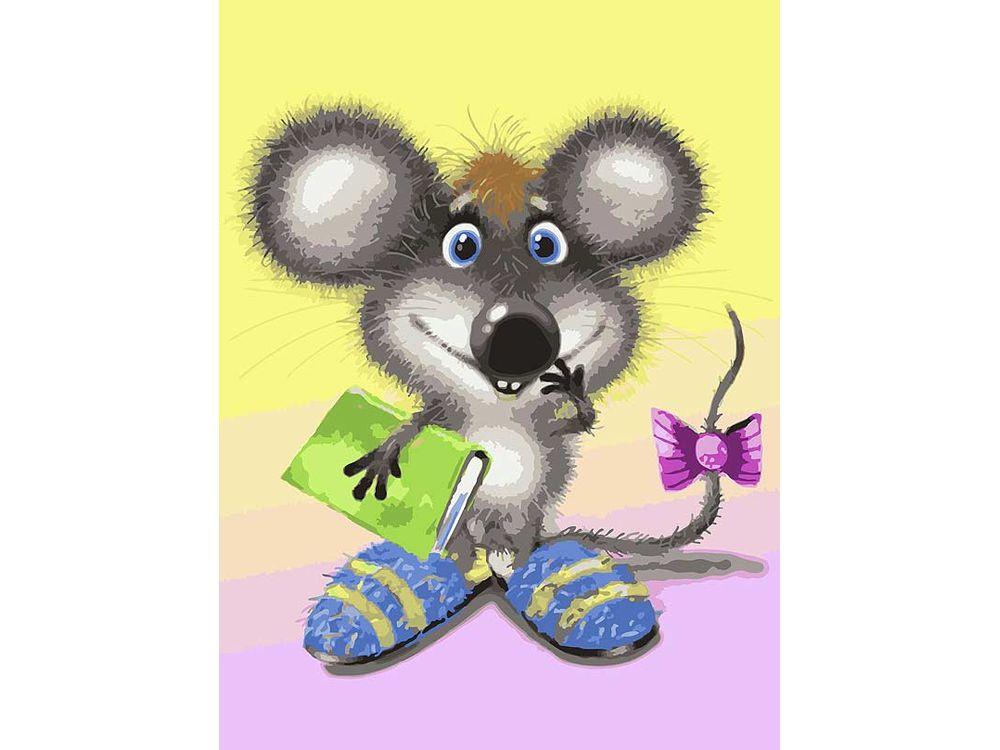 «Ученый мышонок» Льва БартеневаКартины по номерам Белоснежка<br><br><br>Артикул: 045-AS<br>Основа: Холст<br>Сложность: очень сложные<br>Размер: 30x40<br>Количество цветов: 29<br>Техника рисования: Без смешивания красок