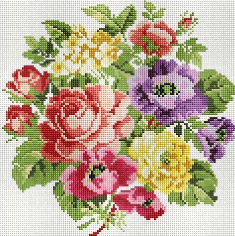 Алмазная вышивка «Вальс цветов»Алмазная вышивка фирмы Белоснежка<br><br><br>Артикул: 062-ST-S<br>Основа: Холст на подрамнике<br>Сложность: средние<br>Размер: 30x30 см<br>Выкладка: Полная<br>Количество цветов: 8-15<br>Тип страз: Квадратные