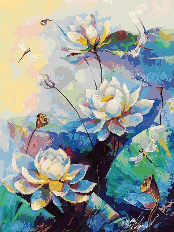 «Лотос»Картины по номерам Белоснежка<br><br><br>Артикул: 084-AS<br>Основа: Холст<br>Сложность: очень сложные<br>Размер: 30x40 см<br>Количество цветов: 36<br>Техника рисования: Без смешивания красок