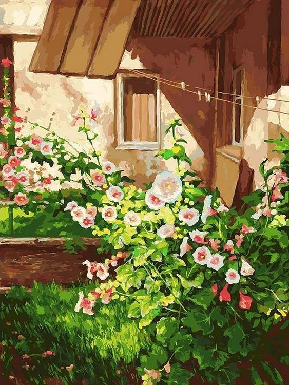 Картина по номерам «Куст шток розы»Картины по номерам Белоснежка<br><br><br>Артикул: 089-AS<br>Основа: Холст<br>Сложность: очень сложные<br>Размер: 30x40 см<br>Количество цветов: 36<br>Техника рисования: Без смешивания красок