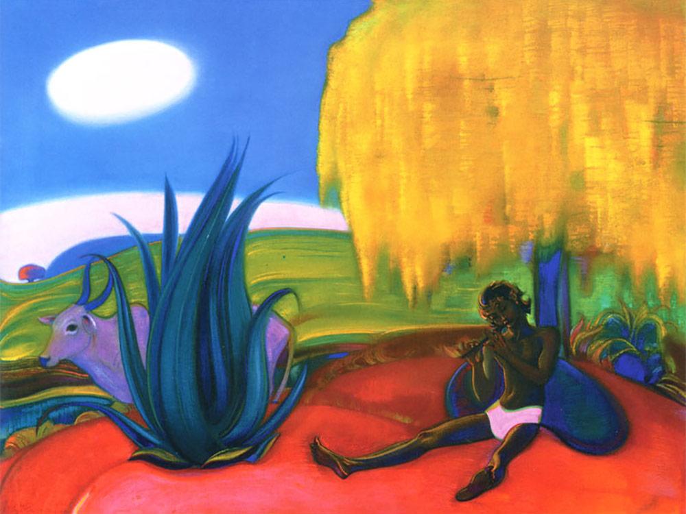 Картина акрилом по контурам «Священная флейта IV» Святослава РерихаКартины акрилом<br>Мы представляем новинку в мире hand-made, которую можно приобрести только на Цветное.ру, – наборы для рисования картин по контурам. Комплектация нашего набора предусматривает все, что понадобится для раскрашивания, включая инструкцию по смешиванию цветов...<br><br>Артикул: N1-0054<br>Основа: Картон<br>Сложность: сложные<br>Размер: 50x70 см<br>Количество цветов: 12