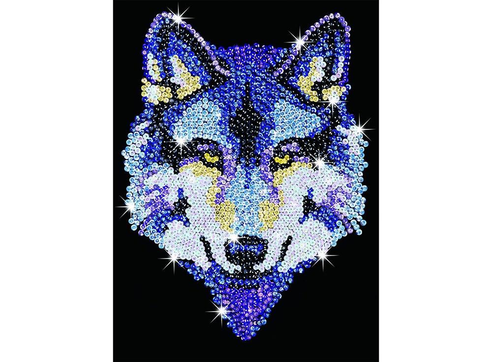 Мозаика из пайеток «Волк»
