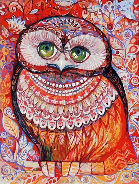 «Медовая сова» Оксаны ЗаикиКартины по номерам Белоснежка<br><br><br>Артикул: 3074-CS<br>Основа: Картон<br>Сложность: очень сложные<br>Размер: 30x40 см<br>Количество цветов: 31<br>Техника рисования: Без смешивания красок