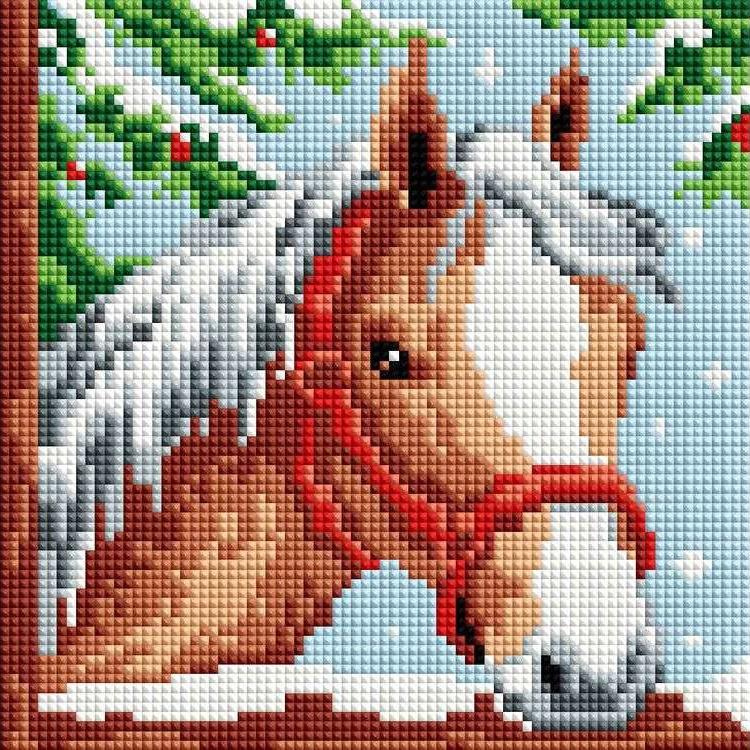 Стразы «Белогривая лошадка»Алмазная вышивка фирмы Белоснежка<br><br><br>Артикул: 326-ST-S<br>Основа: Холст на подрамнике<br>Сложность: легкие<br>Размер: 20x20 см<br>Выкладка: Полная<br>Количество цветов: 8-15<br>Тип страз: Квадратные