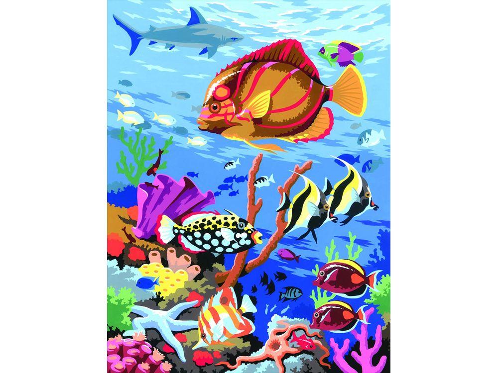 Картина по номерам «Подводный мир»KSG<br>Картина по номерам раскрашивается с применением техники смешивания красок.<br> <br> В наборе предусмотрены базовые цвета, однако смешивание красок занятие достаточно простое и доступное каждому.<br> KSG (Великобритания) - бренд, специализирующийся на изготовлен...<br><br>Артикул: 32<br>Основа: Картон<br>Сложность: средние<br>Размер: 23x30 см<br>Количество цветов: 8<br>Техника рисования: Со смешиванием красок