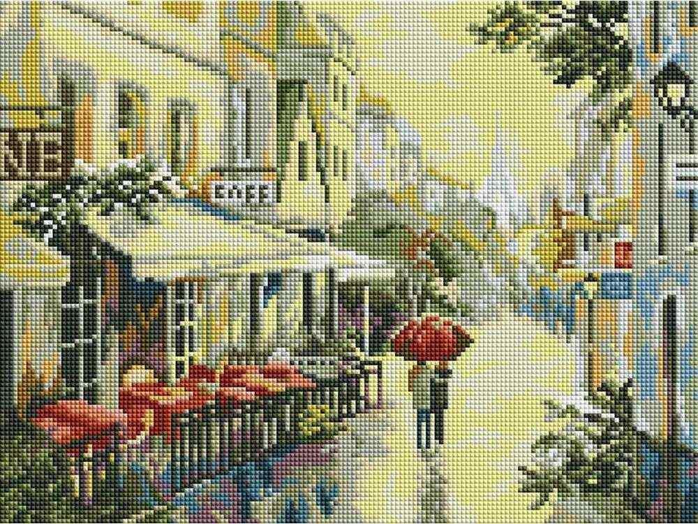 Алмазная вышивка «Прогулка по улицам Парижа»Алмазная вышивка фирмы Белоснежка<br><br><br>Артикул: 339-ST-S<br>Основа: Холст на подрамнике<br>Сложность: сложные<br>Размер: 30x40 см<br>Выкладка: Полная<br>Количество цветов: 8-15<br>Тип страз: Квадратные