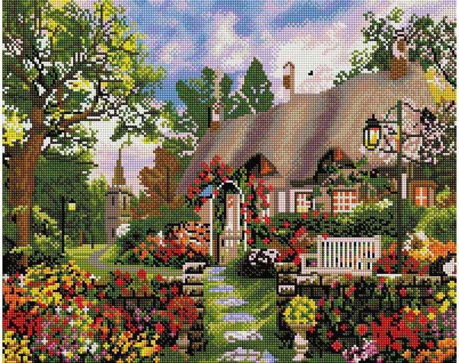 Стразы «Любимый дом»Алмазная вышивка фирмы Белоснежка<br><br><br>Артикул: 344-ST-S<br>Основа: Холст на подрамнике<br>Сложность: очень сложные<br>Размер: 40x50 см<br>Выкладка: Полная<br>Количество цветов: 8-15<br>Тип страз: Квадратные