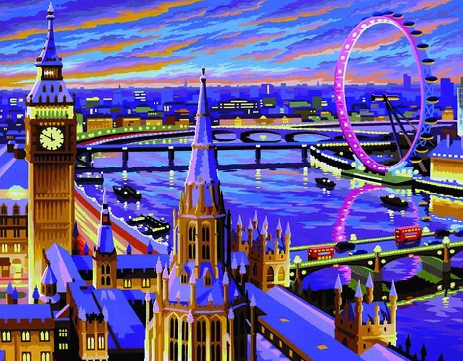 «Лондон»KSG<br>Картина по номерам раскрашивается с применением техники смешивания красок.<br> <br> В наборе предусмотрены базовые цвета, однако смешивание красок занятие достаточно простое и доступное каждому.<br> KSG (Великобритания) - бренд, специализирующийся на изготовлен...<br><br>Артикул: 422<br>Основа: Картон<br>Сложность: легкие<br>Размер: 28x36<br>Количество цветов: 12<br>Техника рисования: Со смешиванием красок