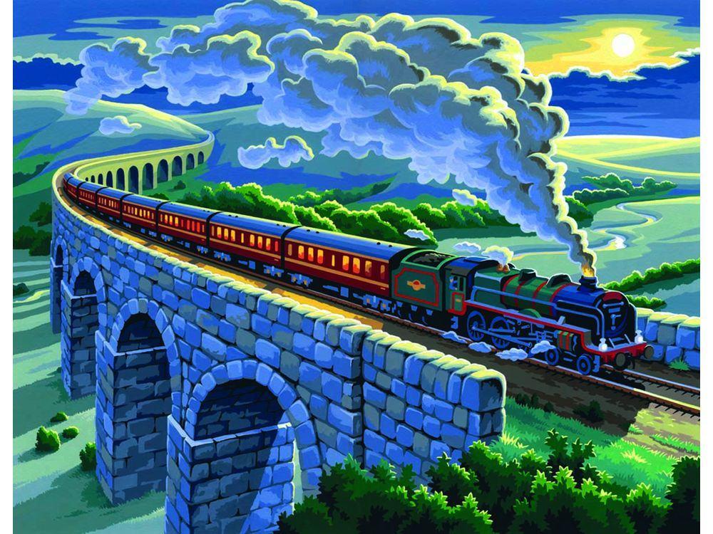 Картина по номерам «Ночной экспресс»