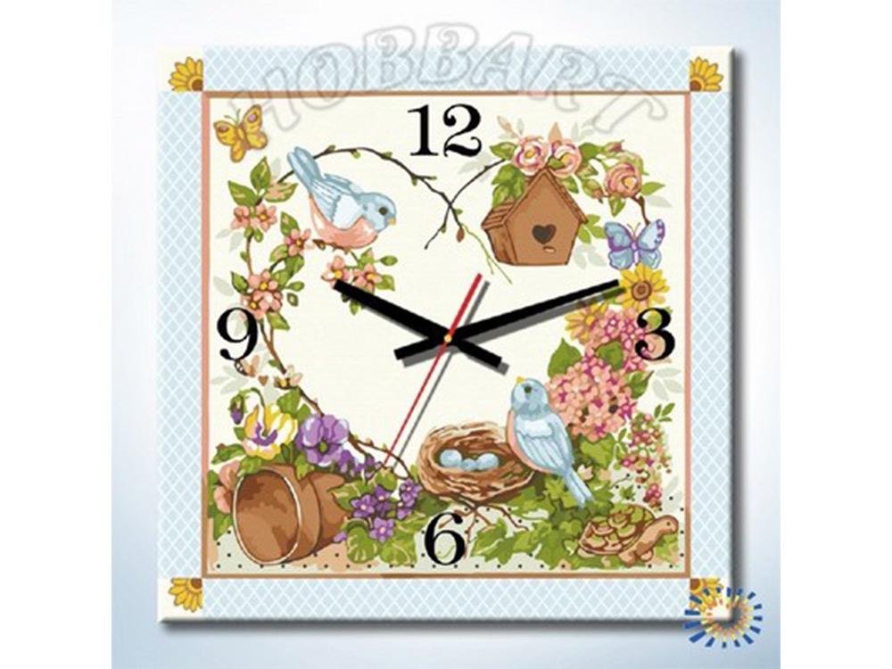 Раскраска-часы «Дачное время»Часы-раскраски по номерам<br><br><br>Артикул: DZ3030001<br>Основа: Холст<br>Сложность: средние<br>Размер: 30x30 см<br>Количество цветов: 24