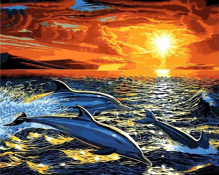 «Мечта дельфина» Эндрю АнненбергаPaintboy (Premium)<br><br><br>Артикул: GX9054<br>Основа: Холст<br>Сложность: сложные<br>Размер: 40x50 см<br>Количество цветов: 25<br>Техника рисования: Без смешивания красок