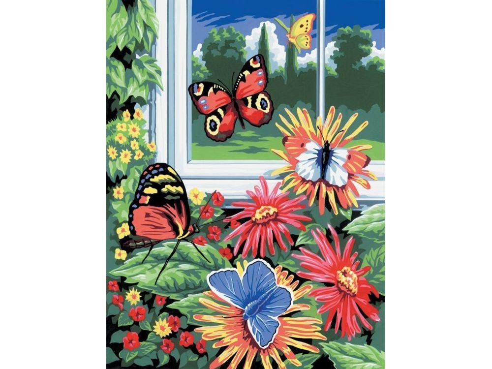 Картина по номерам «Бабочки»Royal&amp;Langnickel<br>Картина по номерам раскрашивается с применением техники смешивания красок.<br> <br> В наборе предусмотрены базовые цвета, однако смешивание красок занятие достаточно простое и доступное.<br> Royal &amp;amp; Langnickel - производитель из Великобритании, специализирующи...<br><br>Артикул: PJS17<br>Основа: Картон<br>Сложность: легкие<br>Размер: 22x30 см<br>Количество цветов: 7<br>Техника рисования: Со смешиванием красок