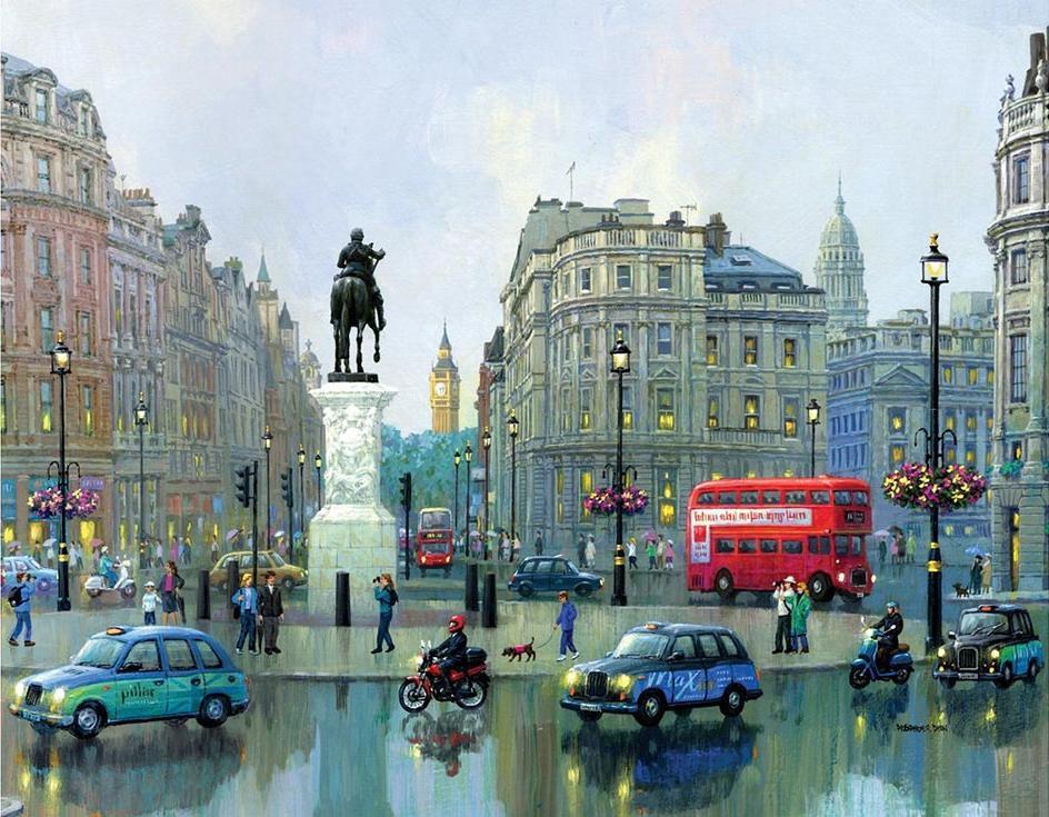 «Лондонский Чаринг-Кросс» Александера ЧенаPaintboy (Premium)<br><br><br>Артикул: GX8965<br>Основа: Холст<br>Сложность: сложные<br>Размер: 40x50 см<br>Количество цветов: 28<br>Техника рисования: Без смешивания красок