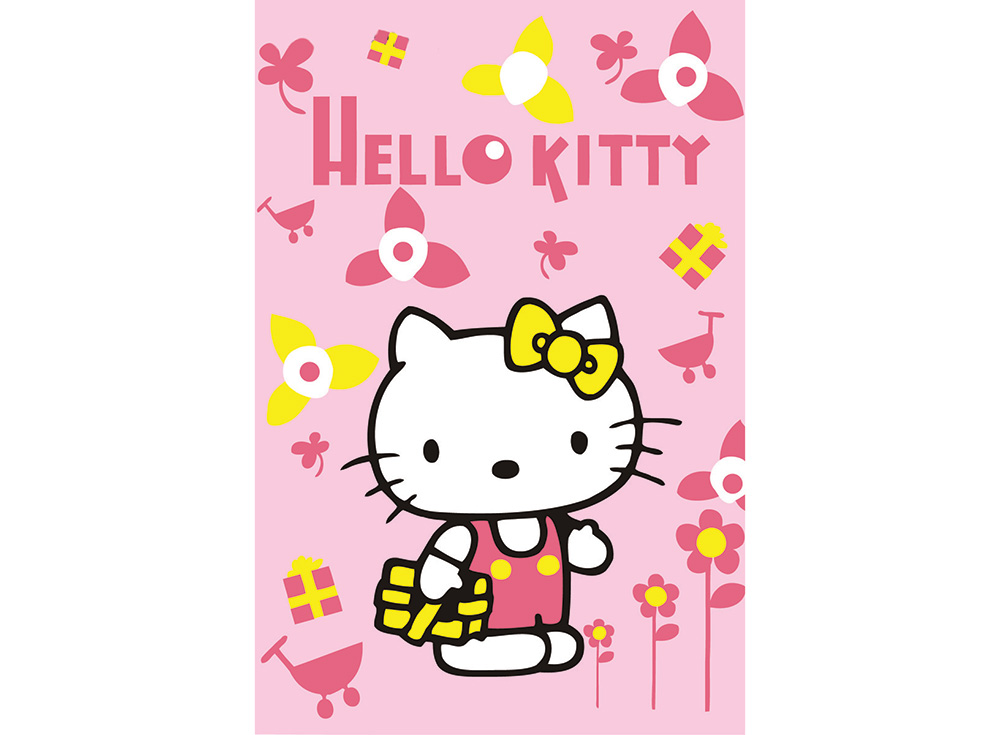 Hello KittyЦветной (Premium)<br><br><br>Артикул: MA253_Z<br>Основа: Картон<br>Сложность: очень легкие<br>Размер: 10x15 см<br>Количество цветов: 5<br>Техника рисования: Без смешивания красок