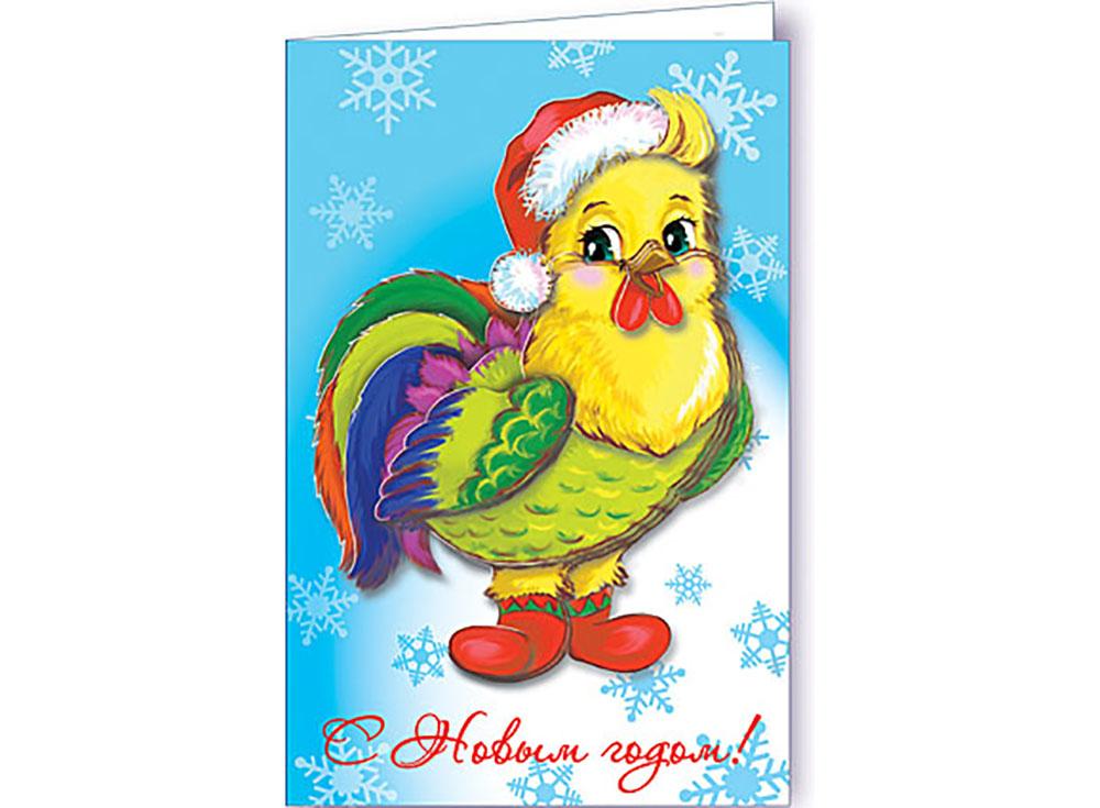 Объемная открытка «Петушок поздравляет»Клевер<br>Набор для создания объемной открытки «Петушок поздравляет» полностью укомплектован для творчества. Дополнительно для работы потребуются только ножницы.<br> Комплектация:<br>  - набор цветной бумаги с контурами для вырезания;<br> - заготовка открытки;<br><br>- конве...<br><br>Артикул: АБ23-306<br>Основа: Картон<br>Размер: 8,5x13,5 см