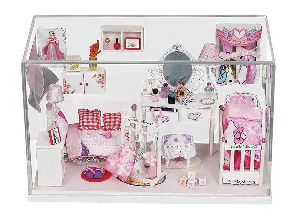 Набор для создания миниатюры (румбокс) «Комната принцессы»Наборы для создания миниатюр<br>Уникальная модель комнаты принцессы требует внимания и аккуратности при сборке, ведь необходимо полностью создать весь интерьер из заготовок и деталей. Соберите самостоятельно все детали мебели, декорируйте его при помощи деталей интерьера, проведите осве...<br><br>Артикул: 009-B<br>Размер: 9,5x20,5x12,4 см