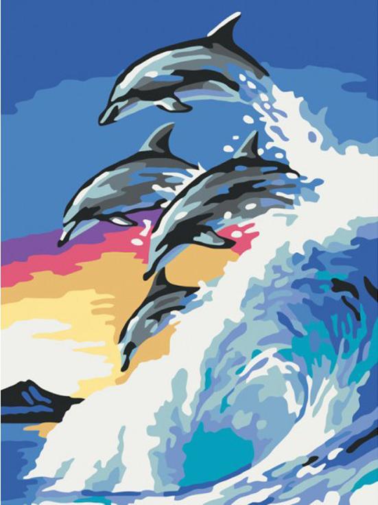 Картина по номерам «На гребне волны»Раскраски по номерам<br><br>