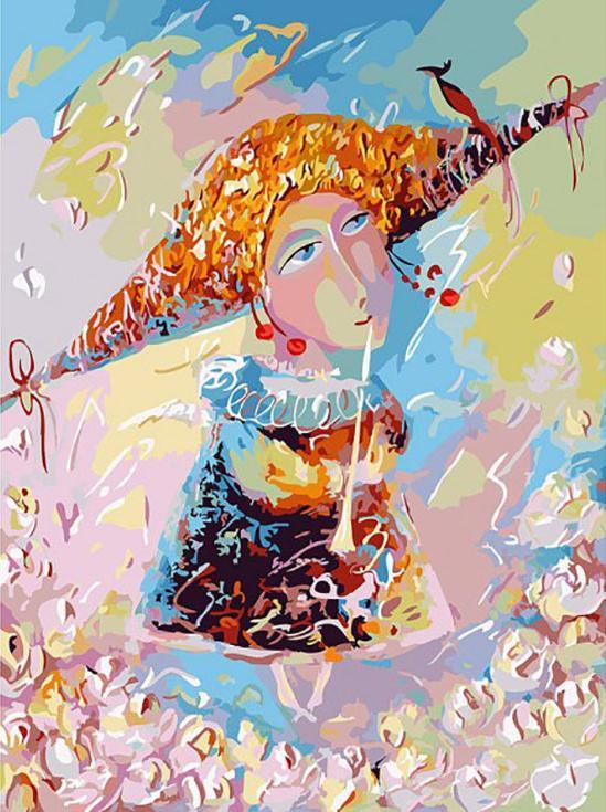 «Переливчатый трель» Лианы МоисеевойКартины по номерам Белоснежка<br><br><br>Артикул: 098-AS<br>Основа: Холст<br>Сложность: очень сложные<br>Размер: 30x40 см<br>Количество цветов: 30<br>Техника рисования: Без смешивания красок