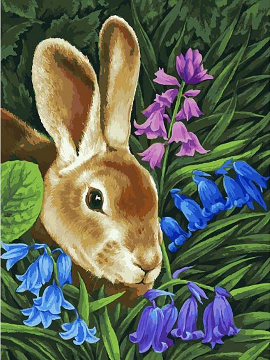 «Кролик» Ирины ГармашовойКартины по номерам Белоснежка<br><br><br>Артикул: 115-AS<br>Основа: Холст<br>Сложность: очень сложные<br>Размер: 30x40 см<br>Количество цветов: 36<br>Техника рисования: Без смешивания красок