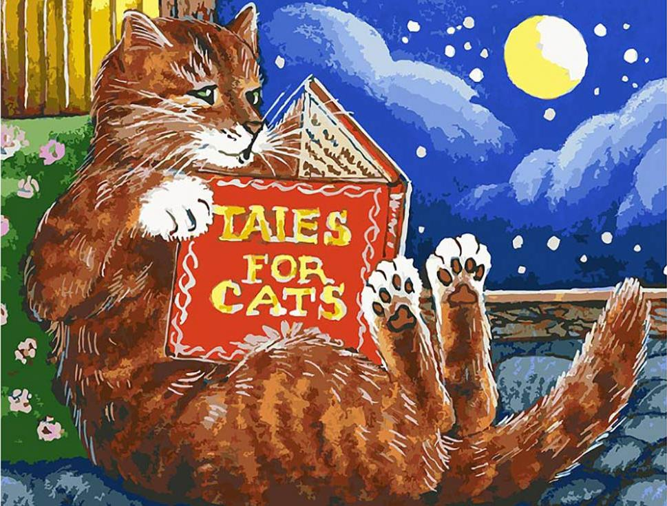«Сказки про котов» Ирины ГармашовойКартины по номерам Белоснежка<br><br><br>Артикул: 119-AS<br>Основа: Холст<br>Сложность: очень сложные<br>Размер: 30x40<br>Количество цветов: 36<br>Техника рисования: Без смешивания красок