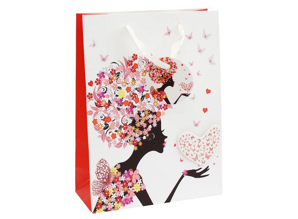 Подарочный пакет «Весеннее настроение»Подарочные пакеты<br><br><br>Артикул: 1215-SB<br>Размер: 18x24x8 см