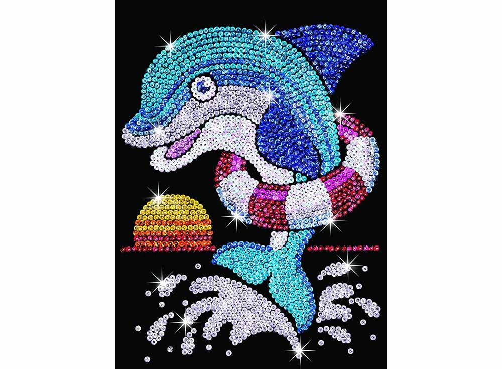 Мозаика из пайеток «Дельфин»