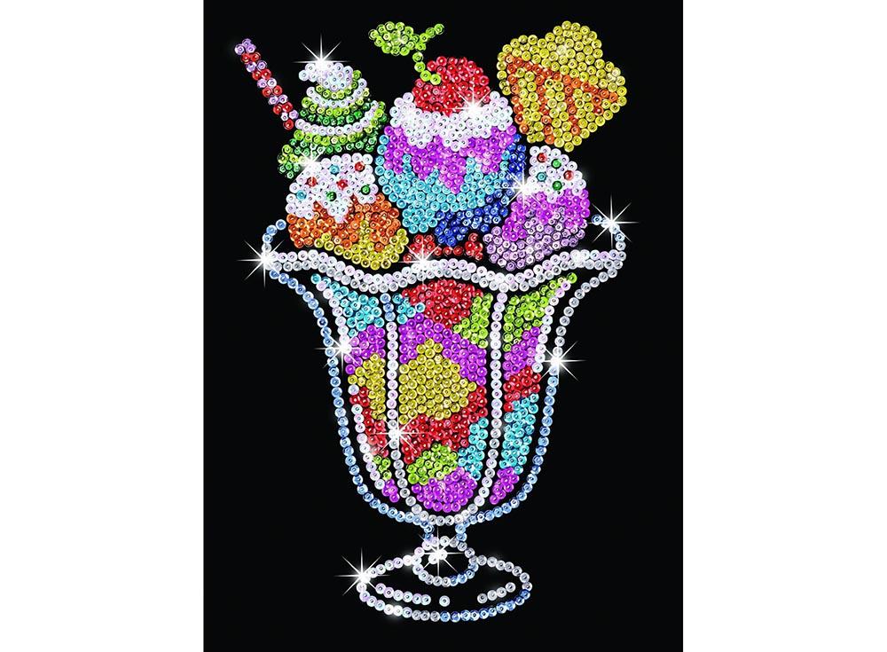 Мозаика из пайеток «Мороженое»