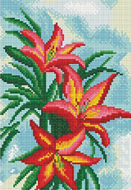 Стразы «Американская лилия»Алмазная вышивка фирмы Белоснежка<br><br><br>Артикул: 136-ST-S<br>Основа: Холст на подрамнике<br>Сложность: средние<br>Размер: 20x30 см<br>Выкладка: Полная<br>Количество цветов: 21<br>Тип страз: Квадратные