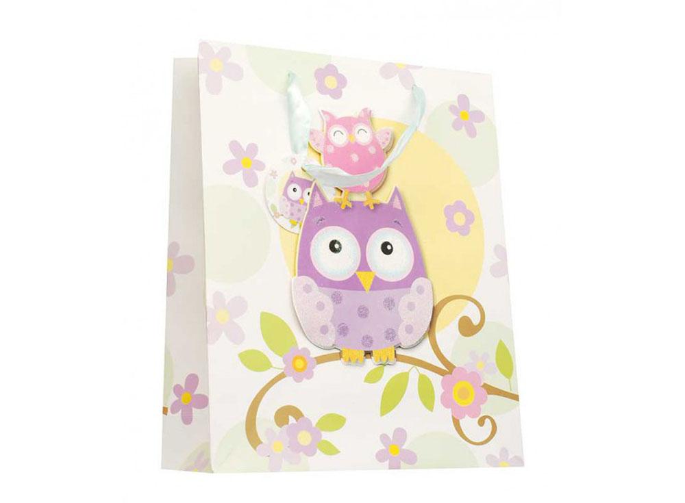 Подарочный пакет «Милые совы»Подарочные пакеты<br><br><br>Артикул: 1402-SB<br>Размер: 18x24x8 см