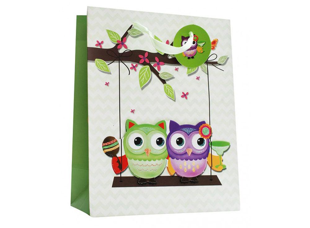 Подарочный пакет «Двое на качелях»Подарочные пакеты<br><br><br>Артикул: 1419-SB<br>Размер: 18x10x23 см