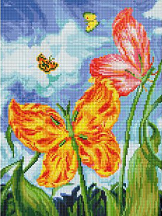 Алмазная вышивка «Бабочки»Алмазная вышивка фирмы Белоснежка<br><br><br>Артикул: 180-ST-S<br>Основа: Холст на подрамнике<br>Сложность: сложные<br>Размер: 30x40 см<br>Выкладка: Полная<br>Количество цветов: 41<br>Тип страз: Квадратные