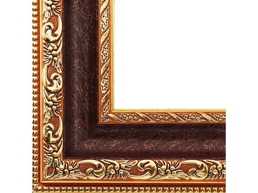 Рамка для картин «Molly»Багетные рамки<br><br><br>Артикул: 2232-BB<br>Размер: 40x50 см<br>Цвет: Коричневый и золото<br>Материал багета: Пластик