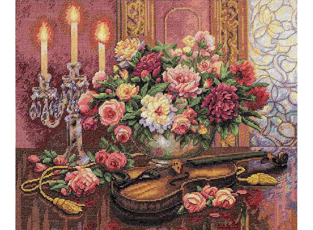 Купить Вышивка крестом, Набор для вышивания «Романтический букет», Dimensions, США