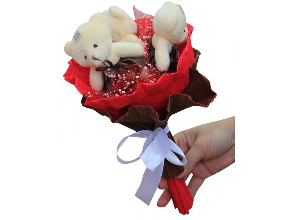 Набор для создания букета «Шоколадные конфеты»Букеты из мягких игрушек<br>Яркий и нестандартный подарок - букет из мягких игрушек вызовет восторг у всех, независимо от возраста и положения. К тому этот букет вещь не только креативная, но и является подарком ручной работы, ведь его нужно собрать самостоятельно.<br> <br> И хотя сдела...<br><br>Артикул: 3MC<br>Возраст: от 8 лет