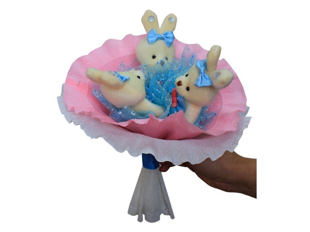 Набор для создания букета «Love»Букеты из мягких игрушек<br>Яркий и нестандартный подарок - букет из мягких игрушек вызовет восторг у всех, независимо от возраста и положения. К тому этот букет вещь не только креативная, но и является подарком ручной работы, ведь его нужно собрать самостоятельно.<br><br>И хотя сделать...<br><br>Артикул: 3ZL<br>Возраст: от 8 лет