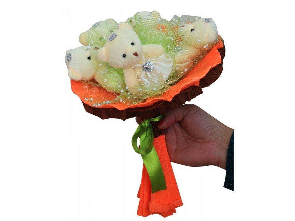Набор для создания букета «Шоколадные конфеты»Букеты из мягких игрушек<br>Яркий и нестандартный подарок - букет из мягких игрушек вызовет восторг у всех, независимо от возраста и положения. К тому этот букет вещь не только креативная, но и является подарком ручной работы, ведь его нужно собрать самостоятельно.<br> <br> И хотя сдела...<br><br>Артикул: 5MC<br>Возраст: от 8 лет
