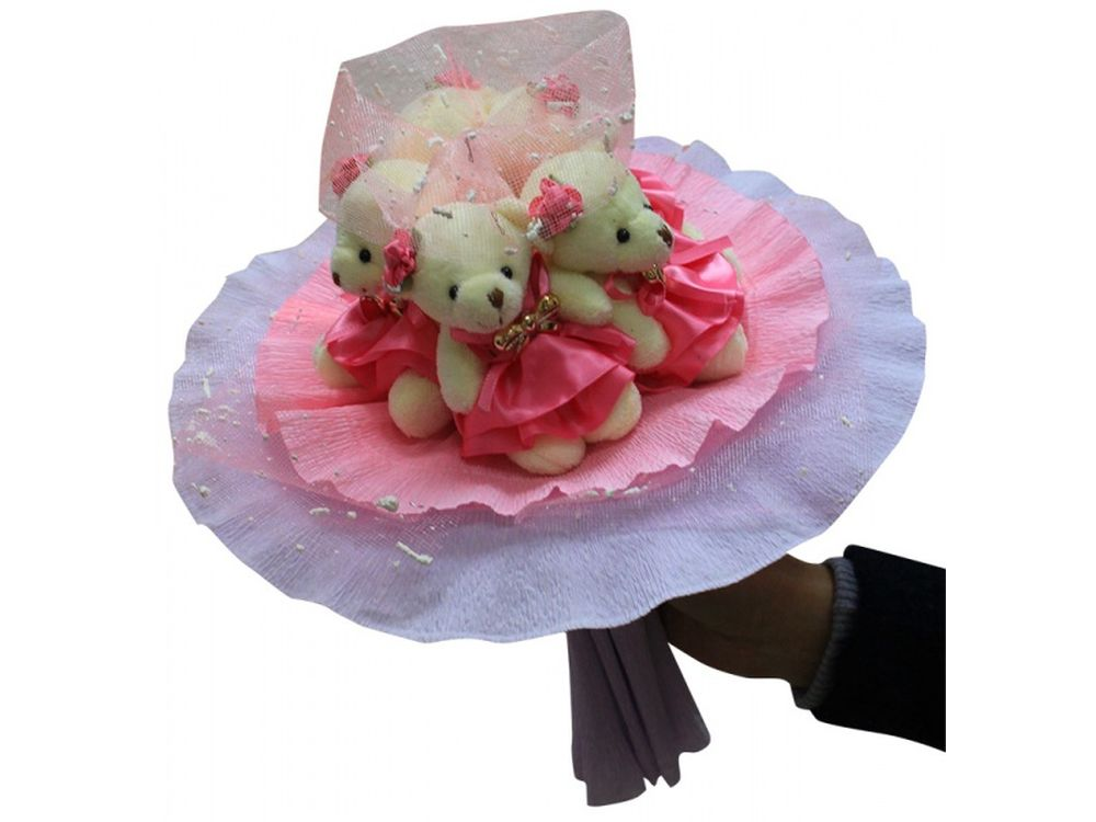 Набор для создания букета «Розовые фантазии»Букеты из мягких игрушек<br>Яркий и нестандартный подарок - букет из мягких игрушек вызовет восторг у всех, независимо от возраста и положения. К тому этот букет вещь не только креативная, но и является подарком ручной работы, ведь его нужно собрать самостоятельно.<br> <br> И хотя сдела...<br><br>Артикул: 5MP