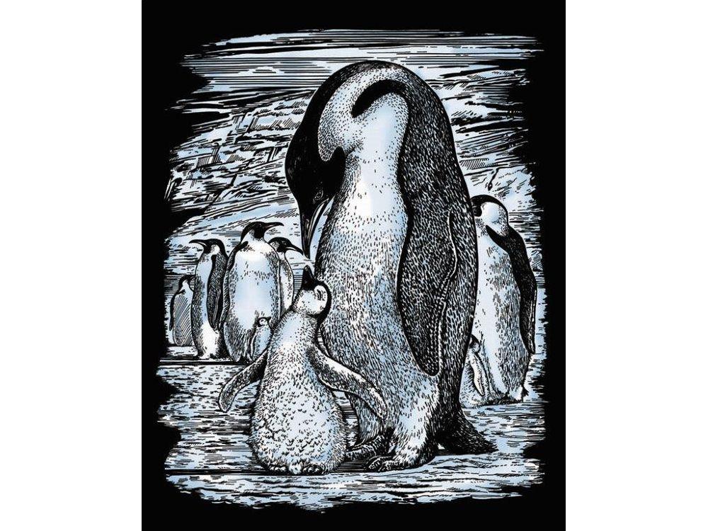 Гравюра «Пингвины»