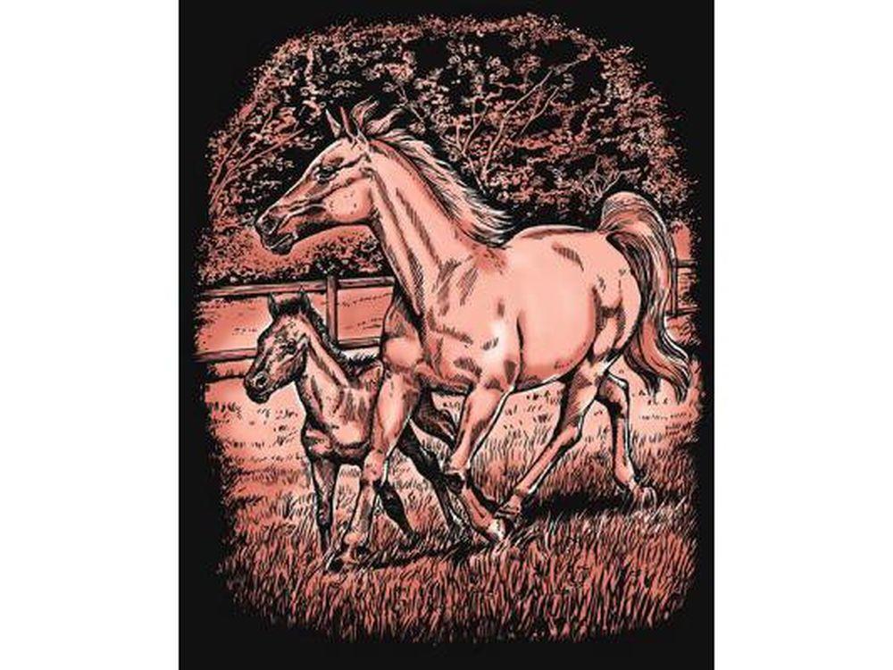 Гравюра «Лошади»
