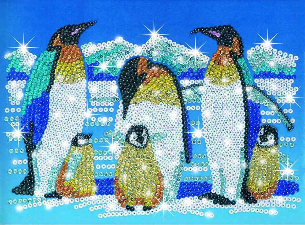 Мозаика из пайеток и бусин «Пингвины»Мозаика из пайеток<br><br><br>Артикул: 0617<br>Основа: Планшет из пенопласта<br>Размер: 25x34 см<br>Возраст: от 8 лет