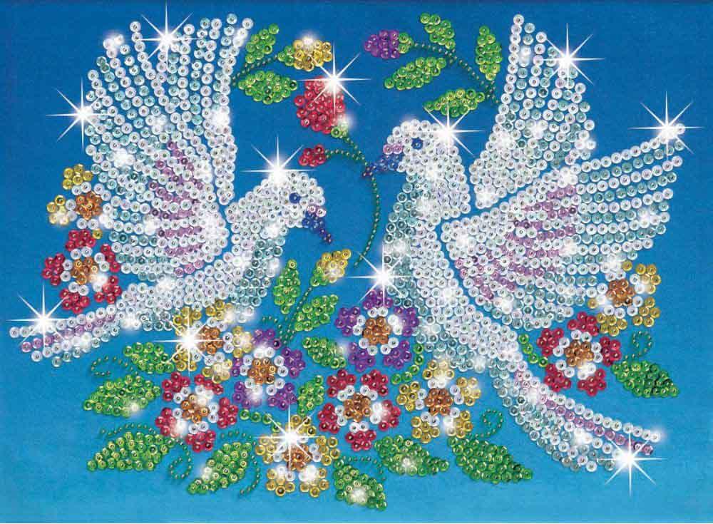 Новогодние картины из паеток своими руками