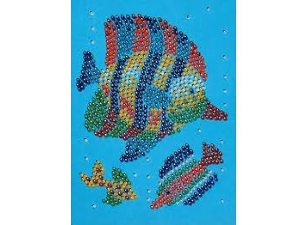 Мозаика из бусин «Рыбка»Мозаика из пайеток<br><br><br>Артикул: 0634<br>Основа: Планшет из пенопласта<br>Размер: 13x17 см<br>Возраст: от 7 лет