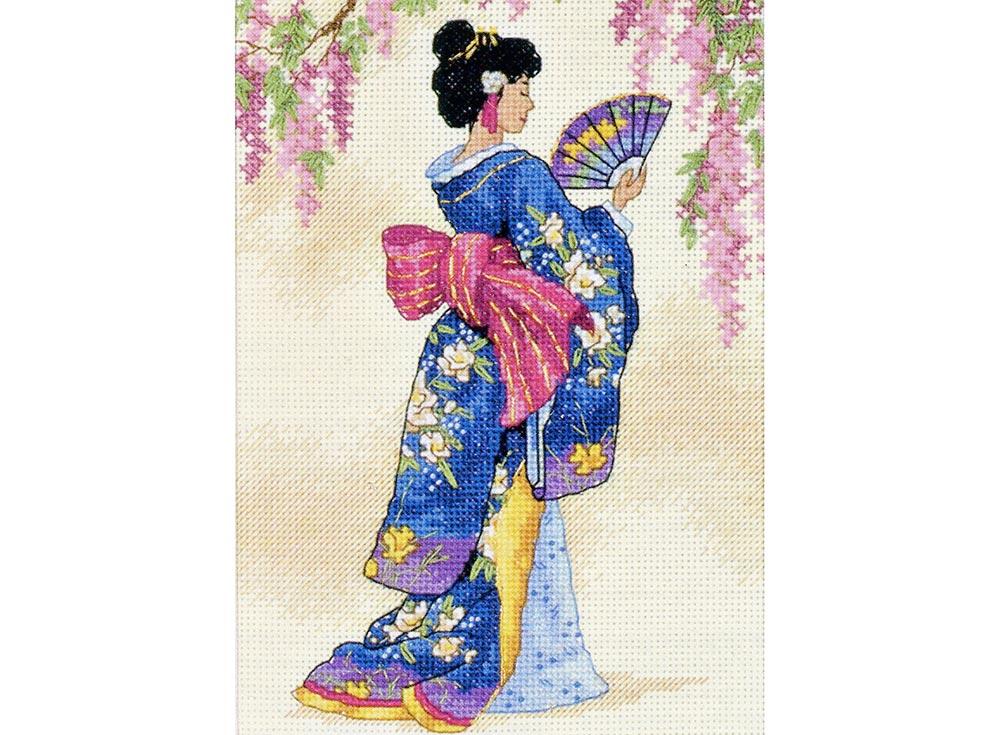 Купить Вышивка крестом, Набор для вышивания «Элегантная гейша», Dimensions, США