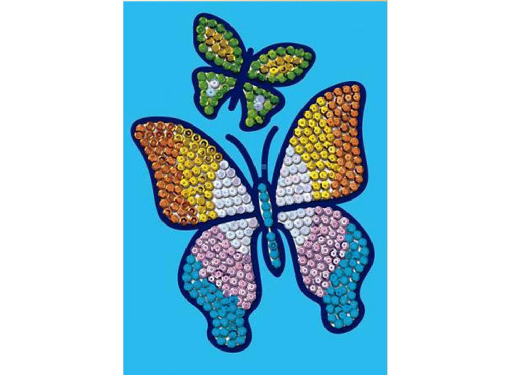 Мозаика из пайеток «Бабочка»Мозаика из пайеток<br><br><br>Артикул: 0720<br>Основа: Планшет из пенопласта<br>Размер: 15x21 см<br>Возраст: от 5 лет