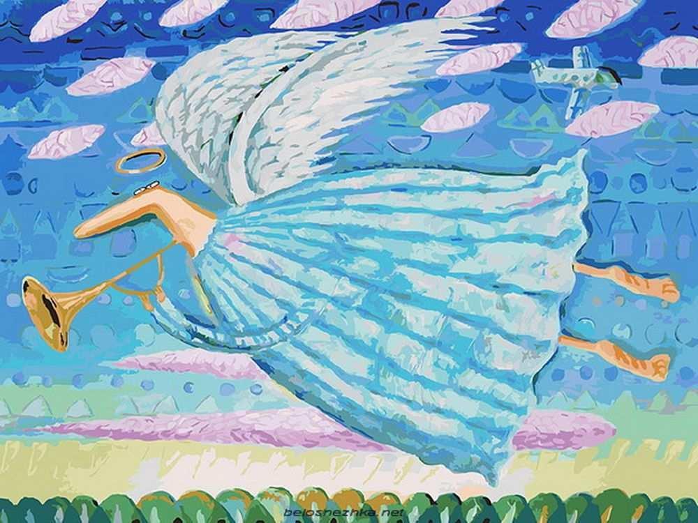 Картина по номерам «Ангел» Романа УрбинскогоКартины по номерам Белоснежка<br><br><br>Артикул: 771-AS<br>Основа: Холст<br>Сложность: очень сложные<br>Размер: 30x40 см<br>Количество цветов: 37<br>Техника рисования: Без смешивания красок