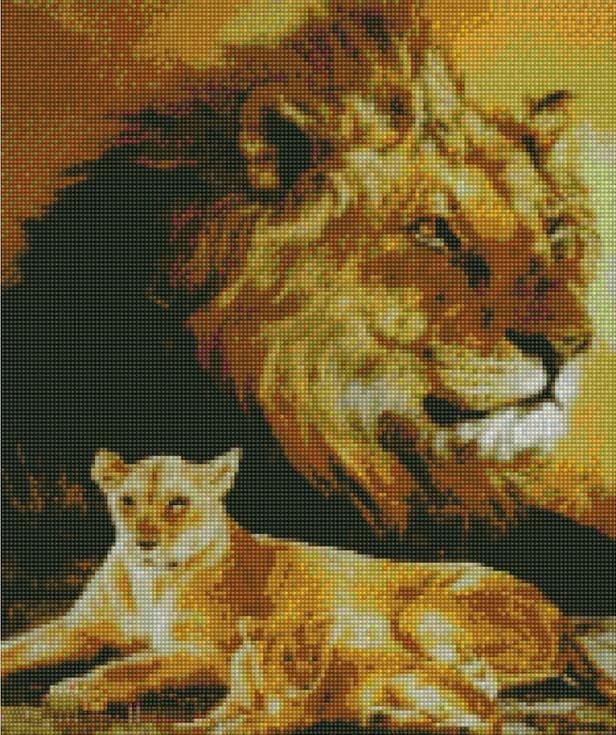 Стразы «Дух льва»Цветной<br><br><br>Артикул: A061<br>Основа: Холст на подрамнике<br>Сложность: сложные<br>Размер: 40x50 см<br>Выкладка: Полная<br>Количество цветов: 20-35<br>Тип страз: Круглые непрозрачные (акриловые)