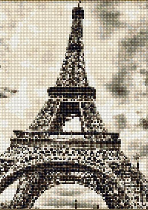 Стразы «Символ Парижа»Цветной<br><br><br>Артикул: A603<br>Основа: Холст на подрамнике<br>Сложность: сложные<br>Размер: 40x50<br>Выкладка: Полная<br>Количество цветов: 20-35<br>Тип страз: Круглые непрозрачные (акриловые)