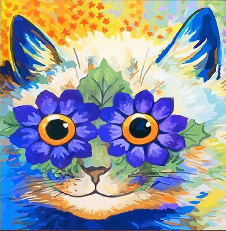 Картина по номерам «Цветочный кот» Луиса УэйнаРаскраски по номерам Color Kit<br><br><br>Артикул: CD021<br>Основа: Холст<br>Сложность: средние<br>Размер: 30x30 см<br>Количество цветов: 24<br>Техника рисования: Без смешивания красок