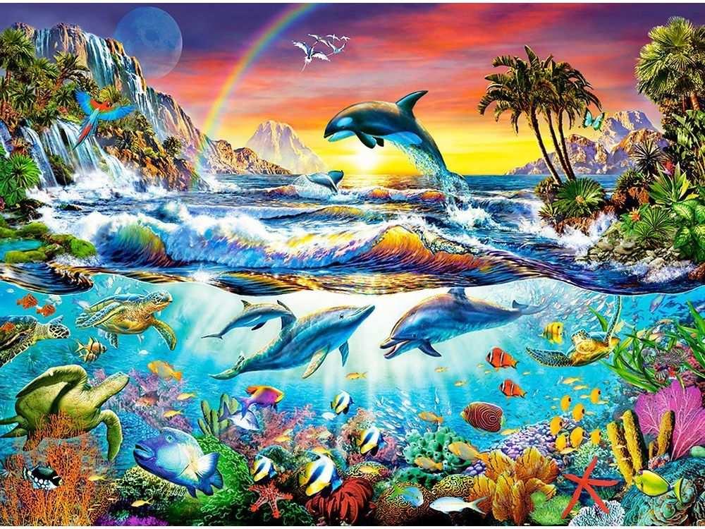 Пазлы «Райская бухта»Пазлы от производителя Castorland<br>Пазл - игра-головоломка, мозаика, состоящая из множества фрагментов, различающихся по форме.<br> По мнению психологов, игра в пазлы способствует развитию логического мышления, внимания, воображения и памяти. Пазлы хороши для всех возрастов - и ребенка-дошко...<br><br>Артикул: C300396<br>Размер: 92x68 см