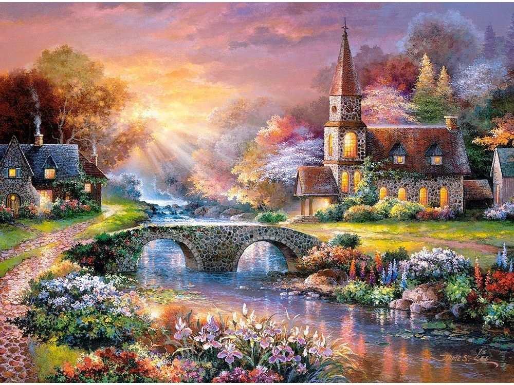 Пазлы «Мост через реку»Пазлы от производителя Castorland<br>Пазл - игра-головоломка, мозаика, состоящая из множества фрагментов, различающихся по форме.<br> По мнению психологов, игра в пазлы способствует развитию логического мышления, внимания, воображения и памяти. Пазлы хороши для всех возрастов - и ребенка-дошко...<br><br>Артикул: C300419<br>Размер: 92x68 см